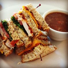Chicken Club from Acme Cafe. An instant favorite! If you're not a fan of hard bread, make sure you get it not toasted! They have lunch specials that come with main and dessert, along w a daily special and soup of the day. All day weekend breakfast!