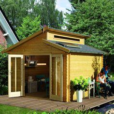 Abri de jardin bois 13.28 m2 VARMLAND (28mm) L304xP304xH253cm Karibu Prix: 2080€ Contactez nous au 01.43.75.15.90