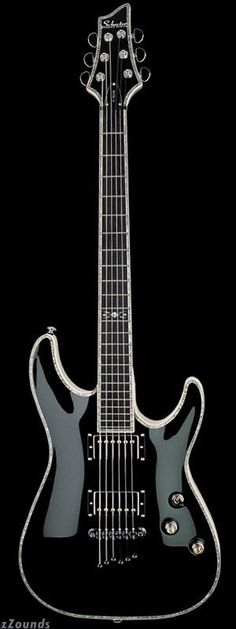 My Schecter C1-Elite. Love this guitar, it takes the greatest pics with the pearl inlay outline.