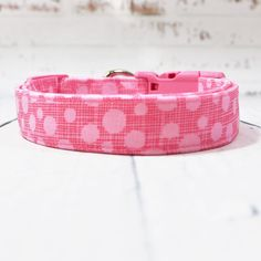 Excited to share this item from my shop: Pink Polka Dots Dog Collar, Martingale Dog Collar Available With Upgrade, Up To Inch Wide Dog Collar, All Collars Adjustable Plaid Dog Collars, Cute Dog Collars, Summer Dog, Spring Summer, Martingale Dog Collar, Pink Polka Dots, Cool Patterns, Dog Cat, Cotton Fabric