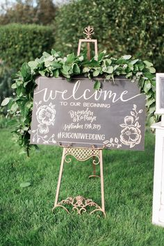An 1887 Farmhouse Played Host to this Rustic Garden Wedding Wedding Shower Signs, Wedding Ceremony Signs, Rustic Wedding Signs, Wedding Welcome Signs, Wedding Ceremony Decorations, Wedding Ideas, Wedding Props, Wedding Seating, Wedding Table