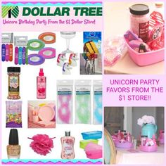 Unicorn Party Gift Ideas, Unicorn Decorations, Unicorn Party Activities and Favors