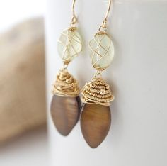 gold and brown.  love the neutral combination