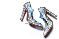 Christopher Kane iridescent holographic party shoe - sure to gain some attention