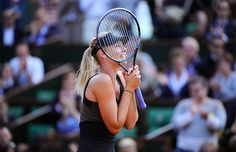 A Veteran Achieves a Long-Awaited Goal: For the first time ever, Maria Sharapova is through to the final at the French Open. French Open, Maria Sharapova, Sports Pictures, Sports Stars, Super Sport, First Time, Career, Long Awaited, Motivation