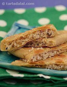 Nariyal ki Meethi Roti ( Parathas ) recipe   Paratha Recipes   by Tarla Dalal   Tarladalal.com   #4780