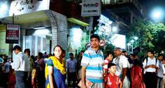 #Passengers waiting for #taxi on #Tuesday, in front of #CentralStation #Calcutta as #Metro services were closed.