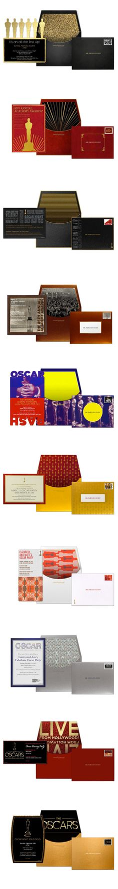 "Oscar Party Invites    ""Will the Oscar Envelopes Ever Go Digital? Designer Tells All"""