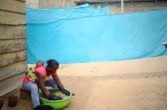 Hard-working women with babies strapped to their backs dye fabric on a hot, humid day: Intern Claire Kean in Ghana with Global Mamas @GlobalMamas  ·Aug 27 2014 #fairtrade