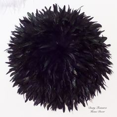 Pure black juju hat wall decoration designed and hand made by dusty treasures home decor