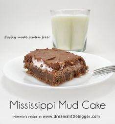 Mississippi Mud cake is a southern tradition of chocolate, marshmallow and pecans. This super rich cake is easy to whip up and divine with a glass of milk. Sweet Recipes, Cake Recipes, Snack Recipes, Dessert Recipes, Snacks, Fun Desserts, Delicious Desserts, Yummy Treats, Sweet Treats