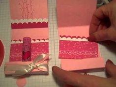 Cute video tutorial for a lip balm holder.