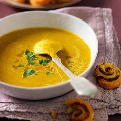 Soupe de lentilles corail au curry: