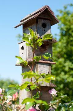 Decorative bird house in summer