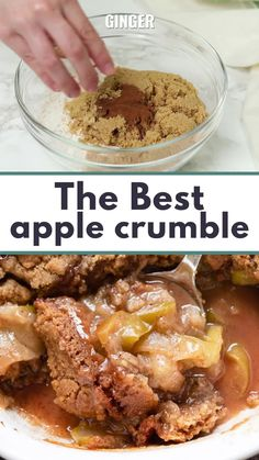 Apple Crumble Recipe Easy, Apple Crumble Topping, Healthy Apple Crumble, Vegan Crumble, Cinnamon Crumble, Apple Crumble Ingredients, Fun Baking Recipes, Sweet Recipes, Snack Recipes