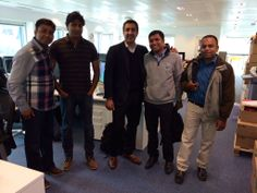 Two of the India team came over to London for a visit!