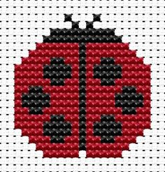 Fat Cat Cross Stitch. Easy Peasy Ladybird