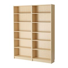 IKEA - BILLY, Bookcase, birch veneer, , Adjustable shelves can be arranged according to your needs.Surface made from natural wood veneer.