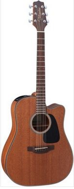 G Series 11 All Mahogany - Dreadnought Cutaway Body Takamine GD11MNS acoustic steel guitar, dreadnought, cutaway, mahogany top, back and sides mahogany, quartersawn X bracing, mahogany neck, rosewood fretboard, 20 frets, scale 648mm, nut width 43mm, takamine TP4T Pickupsystem, strings daddario EXP16 012-053, finish natural satin £229