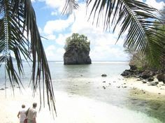 This is the actual island that appears on the American Samoa license plate.
