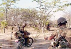 SWA Spes SWATF Motor Cycle Troops somewhere in the Operational Area. West Africa, South Africa, Defence Force, We Are Young, Cold War, World War I, Military History, Armed Forces, Troops