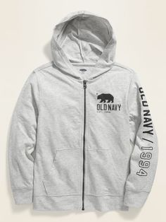 Shop Old Navy's Logo-Graphic Zip Hoodie for Boys: Available exclusively online and at Old Navy Outlet stores., Long sleeves, with banded cuffs. Toddler Boy Gifts, Toddler Boy Fashion, Baby Girl Jeans, Girls Jeans, School Uniform Shoes, Navy Logo, Maternity Shops, Shop Old Navy, Plus Size Jeans