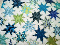 Hand quilting with perle cotton. Pretty quilt. Pretty stitches!
