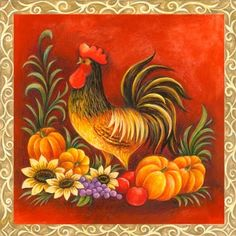 Medium Chicken Crafts, Chicken Art, Country Chicken, Rooster Art, Barnyard Animals, Chickens And Roosters, Galo, Animal Projects, China Painting