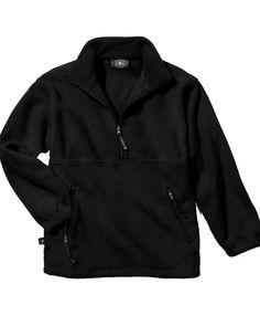 Charles River Apparel 9501 Men Black Quarter Zip Adirondack Fleece Pullover NWT #CharlesRiverApparel #FleeceJacket