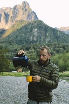 Coffee tastes better camping. // The Landing in Index, WA // Book on Hipcamp.