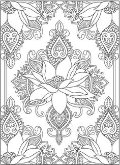 Henna coloring page from Dover Publications http://www.doverpublications.com/zb/samples/797910/sample6b.html