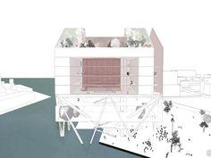 Warehouse Tower project. Art/design community Brooklyn Navy Yard. By Jenya Uzhegova and Desiree Casoni. Parsons Masters of Architecture