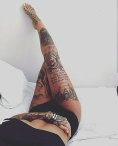 die 112 besten bilder von tattoo oberschenkel tattoo. Black Bedroom Furniture Sets. Home Design Ideas