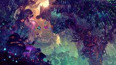 digital art landscape city glowing science fiction fantasy art 4 Sizes Home Decoration Canvas Poster Print Fantasy Art Landscapes, Fantasy Landscape, Fantasy Places, Fantasy World, Fantasy Forest, Dreamland, Forest Wallpaper, Hd Wallpaper, Wallpapers