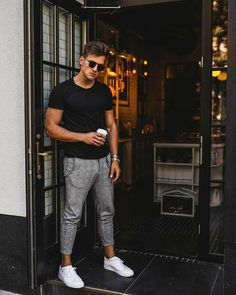 Sport look men style mens fashion Trendy Ideas Cool Outfits For Men, Stylish Mens Outfits, Casual Outfits, Men Casual, Casual Look For Men, Guy Outfits, Man Outfit, Nice Outfits, Casual Clothes