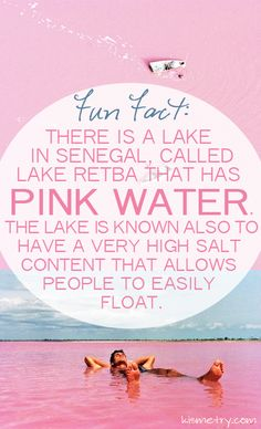 A Pink Lake in Senegal. #bucketlist