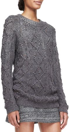 Tory Burch Shawn Wool-Silk Knit Tunic