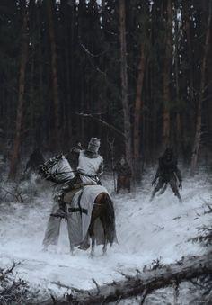 Wallpaper horse Knight man-wolf Samogitia 1409 Fantasy for Mobile phone Horses Werewolf lycanthrope Dark Fantasy, Medieval Fantasy, Fantasy World, Arte Horror, Horror Art, Tableau Star Wars, Art Noir, Werewolf Art, Templer