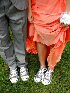 Love this! I WILL go to prom (or something else fancy) wearing converse at least once in my life. :-)