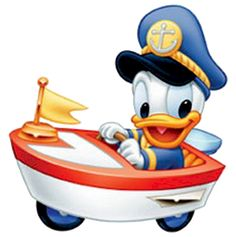 Baby Donald in Boat