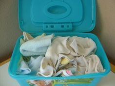Cloth Wipes.  I dont cloth diaper but i do use cloth wipes for pee pee diapers and the same solution on papertowelsforpoopy ones.  i also add a tsp of coconut oil too.