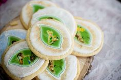 Tinkerbell fairies woodland birthday party cookies! See more party planning ideas at CatchMyParty.com!