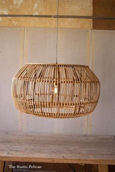 Rustic-Chandelier-Farmhouse-Modern - The Rustic Pelican Bamboo Pendant Light, Pendant Light Fixtures, Pendant Lighting, Bamboo Lamp, Dining Lighting, Pendant Lamps, Pendants, Modern Rustic Homes, Modern Decor