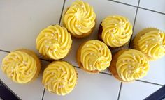 Lemon Cupcakes With Sweet Cream Frosting-- perfect for spring time!
