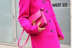 Nam, NYFW Fall 2012 — Anna Dello Russo, Céline bag, Balenciaga coat