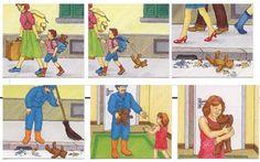 But et déroulement du jeu : 4 à 6 cartes sont distribuées aux enfants qui doivent les remettre dans le bon ordre pour former une histoire....