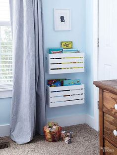 If you're looking for some unique and uncommon storage ideas for your kid's room this post is for you. Check out!