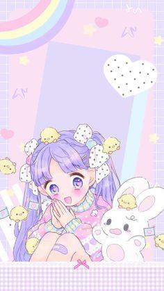 ป ก พ น โ ด ย pankeaw ป า น แ ก ว ใ น home screen ใ น ป 2019 аниме แ ล ะ ди Wallpaper Kawaii, Wallpaper Iphone Cute, Cute Wallpapers, Pastel Drawing, Pastel Art, Kawaii Anime Girl, Kawaii Art, Kawaii Drawings, Cute Drawings