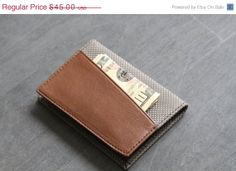 Hey, I found this really awesome Etsy listing at https://www.etsy.com/listing/177267666/slim-leather-wallet-men-walletminimal