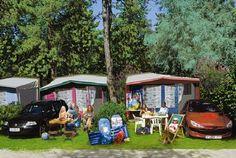 Casa Mobile Modello S da 4 persone e Modello G da 5 persone con un ventilatore e una veranda